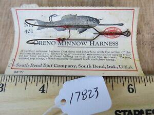 Vintage South Bend Oreno Minnow Harness fishing lure hook  (lot#17823)