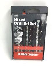 BLACK & DECKER 9 PCE MIXED DRILL BIT SET A8181
