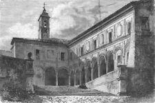 ROME. Sant' Onofrio 1872 old antique vintage print picture