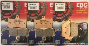 Triumph Street Triple 675R (2013 to 2016) EBC Sintered FRONT and REAR Brake Pads