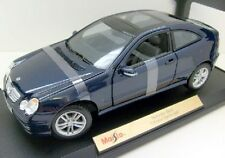 Maisto 1/18 Diecast Mercedes Benz C-Class Blue Sports Coupe 31614 NIB