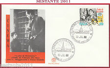 ITALIA FDC FILAGRANO CINEMA VITTORIO DE SICA LADRI BICICLETTE 1988 TORINO Z391