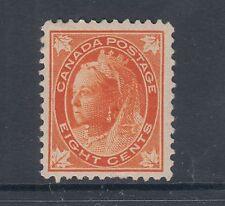 Canada Sc 72 MLH. 1897 8c orange QV Maple Leaf F-VF