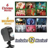 Noël Halloween Laser Fenêtre Projecteur 12 Films Mini Pays des Merveilles Proj