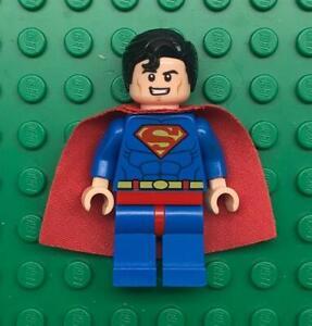 Lego Superman Minifig lot: Super Hero Figure Blue Suit 10724 Starched Cape