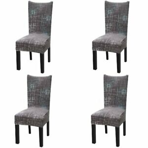 Chair Covers 4Pcs Soft Stretch Removable Seat Slipcover Banquet Wedding Party
