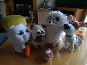 Collection of SECRET LIFE OF PETS soft plush Toys max snowball gidgit mel norman