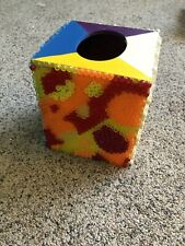 Handmade Beaded Decorative Wooden Tissue Box 5.5 by 5 inches