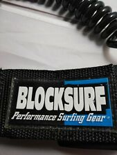 Bodyboard leash Block surf Pro Coil wrist strap Black