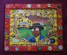 PROFESSOR LONGHAIR Giclee Print New Orleans PIano Folk Art Signed by DR. BOB