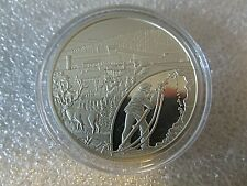1995 1oz Mineral Hill Mine Safety Award .999 Fine Silver Round - encapsulated