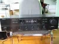 DENON PRECISION AUDIO COMPONNENT/AM-FM STEREO RECIVER MODEL DRA-365R