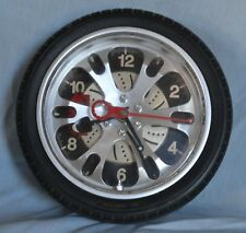 200 mm  Wall Clock   Alloy Tyre ... Like New