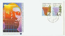 Vereinte Nationen New York FDC Ersttagsbrief 1979 Namibia Mi.Nr.336+37