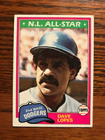 1981 Topps #50 Dave Lopes Baseball Card Los Angeles LA Dodgers Raw NL All Star