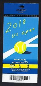 2018 US OPEN TENNIS CHAMPIONSHIP TICKET FINALS NAOMI OSAKA def SERENA WILLIAMS