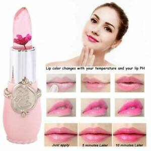 6 Color Flower Lipstick Jelly Transparent Magic Changing Lip Temperature Change