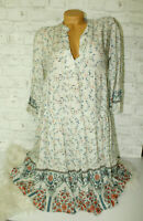 Italy Hängerchen Kleid Tunika Boho Ibiza Paisley 36 38 40 Neu Blumen blogger