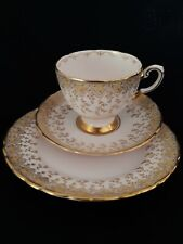 Vintage Pink N Gold Tuscan China Tea Trio Great Condition