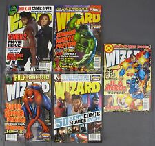 Wizard Comics Magazine Issues #140 141 142 143 144 JLA Avengers Spiderman Batman