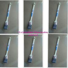 6 x 38mm EXTRA LUNGO ANGOLATO lunga portata Paint Brushes DIETRO RADIATORE Gloss fai da te