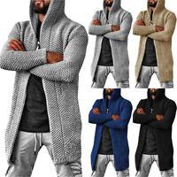 Mens Knitted Cardigan Long Sleeve Sweater Jacket Casual Coat Outwear Winter Warm