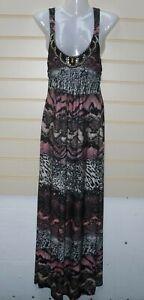 Bodyflirt Boutique Animal Print Maxi Dress Size 6/8 Jersey BNWOT G035