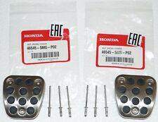 Honda Genuine Clutch & Brake Aluminum Pedal Pad Covers for Civic 46545-SMG-P02