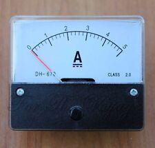 0 - 5a Dc Amperímetro Amp actual del panel metro analógico con interior de maniobras de nuevo