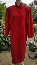 House of fraser 100%  Wool Smart Winter Coat Size 14 , Immaculate Raspberry Red