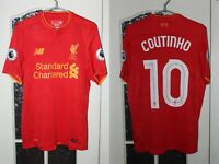 Liverpool 2016 2017 Coutinho Home New Blance Shirt Jersey Trikot Size S