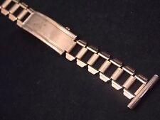 "Pontiac Supreme Mens 19mm 3/4"" Deployment Clasp Vintage Watch Band Yellow Gold T"