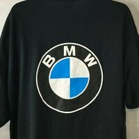 BMW Motorsports Car T Shirt Sz 2XL Short Sleeve Big Logo Black 2 Sided Mens
