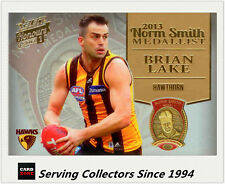 2014 Select AFL Honours Medal Winners Card MW3 Brian Lake (Norm Smith) (Hawks)