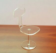 Task Chair 1:12, Acrylic-Perspex, Modern Style design Furniture, Dollhouse Chair