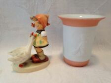 Hummel - Goose Girl (47 3/0, Tm 7) w/ Vase (625, Tm 7), Still In Original Boxes!