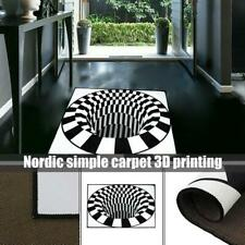 3D Swirl Print Optical Illusion Polyester fiber Rug Carpet Non-slip Mats 40x60cm