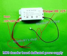 AC/DC 110V-240V 220V to 12V 1A DC Power Supply Adapter for 12V MP3 Decoder Board