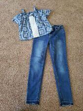 Girls Clothes Size 12, Legging Jeans, Crop Top Shirt 12