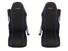 DAF 105 XF , 105 CF Seat Covers BLUE PIPING 2 pieces
