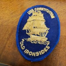 VTG U.S.S CONSTITUTION OLD IRONSIDES Souvenir Embroidered  Patch