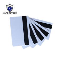 10 PCS Blank White PVC CR80 Hico 1-3 magnetic stripe Plastic Credit Card 30Mil