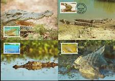 Palau 1994 WWF - Estuarine Crocodile - 4 Maximum Cards  - (444)