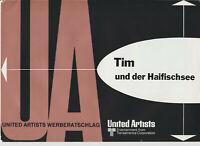 Hergé TIM UND DER HAIFISCHSEE Tim und Struppi ORIGINAL WERBERATSCHLAG 1973 Rar!!