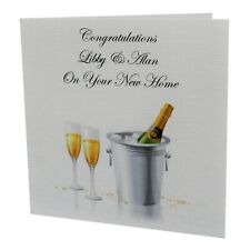 00006000 Handmade Personalised New Home House Warming Greetings Card