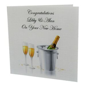 Handmade PERSONALISED NEW HOME House Warming Greetings Card