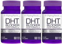 3 BOTTLES DHT BLOCKER FOR MEN & WOMEN HAIR LOSS DIETARY SUPPLEMENTS 180 TABLETS