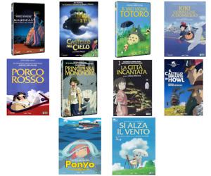HAYAO MIYAZAKI - STUDIO GHIBLI - 10 FILM LUNGOMETRAGGI (DVD) COFANETTI SINGOLI
