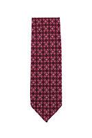 Finamore Napoli Burgundy Red Foulard Silk Tie - x - (1301)