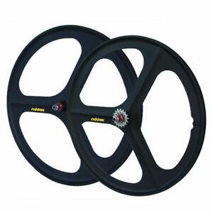 """RIDDOX Laufradsatz Vorderrad oder Hinterrad Singlespeed Fixie 28"""" 700C SCHW MATT"""
